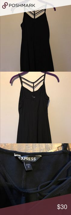 Express Black Strappy Dress Express Black Strappy Dress - Straps are on the Chest not the back Express Dresses Mini