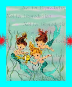 Hey, I found this really awesome Etsy listing at https://www.etsy.com/listing/129849851/baby-mermaids-quilting-fabric-merbaby