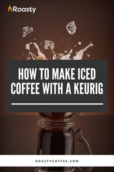 If you're trying to avoid paying money for an iced coffee when you already have a Keurig at home, you've come to the right place! It's 100% possible and surprisingly easy to do! Use our how-to guide to find out tips and tricks we've put together so you can get the most out of your home-brewed iced coffee. #coffeelovers #icedcoffee #roastycoffee #keurigcoffee Thai Iced Coffee, Vietnamese Iced Coffee, Making Cold Brew Coffee, How To Make Ice Coffee, Coffee Humor, Coffee Quotes, Coffee Is Life, Coffee Shop, Coffee Course