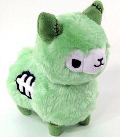 Zombie Alpaca Plush - Green