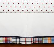 This crib skirt is another reason why I decided we needed this set!  Too cute!