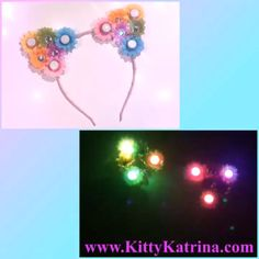 #LUVIT 😻 Obsessed with this Pastel Rainbow LED #CatEarsHeadband with rhinestones that went to a LUVly #FlowerChild 🙌🏻 Perfect to wear at festivals and raves 💖 Available at KittyKatrina.com in our LED Crowns / Headbands Section 😘 #ledflowercrown #catears #catearsheadband #kittyears #kawaiifashion #rave #ravecostume #raveoutfit #ravewear #festivalfashion #edmfashion #edmstyle #burningman #lollapalooza #globaldancefestival #electriczoo #nocturnalwonderland #campbisco #moonrisefestival