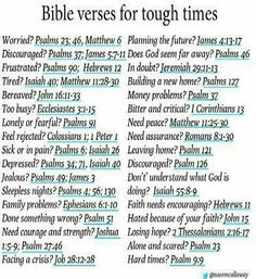 Bible verses for tough times. I needed this