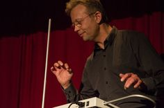 Playing in concert during the Theremin Spring Academy 2014 in Leipzig