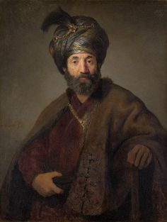 Man in Oriental Costume / Rembrandt van Rijn and Workshop (Probably Govaert Flinck) / c. 1635