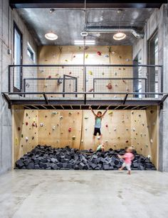 6 Design Tips for the Modern Family - Utah Style and Design Home Basketball Court, Sports Court, Indoor Climbing Wall, Indoor Playroom, Gym Room, Home Room Design, Dream Rooms, House Rooms, My Dream Home