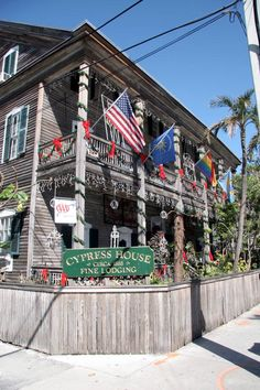 Cypress House at 601 Caroline Street decorated for Christmas - Key West, Florida #flachristmas State Archives of Florida, Florida Memory, http://floridamemory.com/items/show/100999
