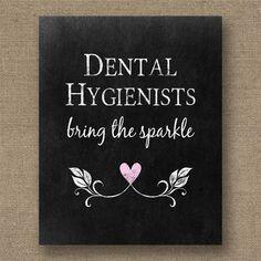 Dental Hygienists Printable Poster - Chalkboard Style Dentist Gifts - Instant Download Dental Wall Art