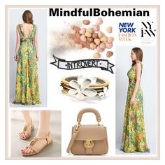 """""""MINDFUL BOHEMIAN #13-III"""" by nizaba-haskic ❤ liked on Polyvore featuring Burberry, Too Faced Cosmetics and Identity"""