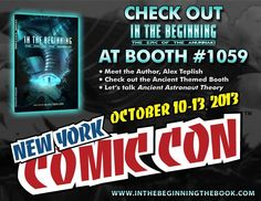 Meet @InThe_Beginning at its booth #1059 at #NYCC2013. Stop by, to check out the awesome ancient themed booth. Get the personally autographed book by author himself.