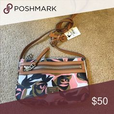 Floral fossil bag Brand new condition NWT fossil Crossbody bag Fossil Bags Crossbody Bags