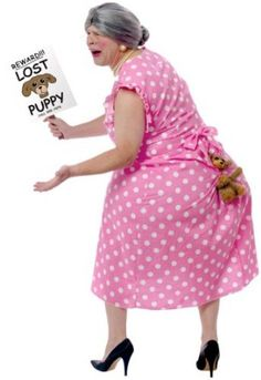 Womens Lost Puppy Humorous Costume - men could wear this one too!