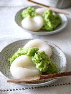 Japanese sweets / ずんだ餅(zunda mochi)