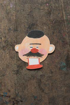 柴田ケイコ メッセージカード「髭男爵」