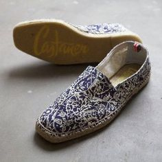 Summer Paisley Espadrilles by Castaner...maybe with a pair of rolled white linen pants?