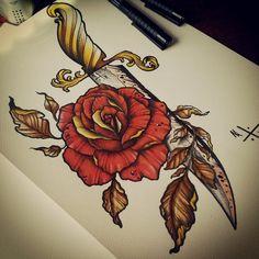 Dagger / Rose by EdwardMiller