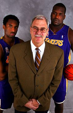 Why do they all look like they're gonna drop the hottest mixtape of 2000?  Kobe, Phil Jackson & Shaq