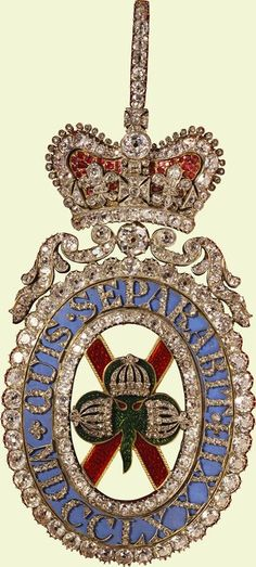 Order of St Patrick, George IV's Sovereign's Sash Badge, made in 1812.