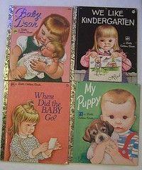 Little Golden Books :) I loved my golden books when I was little.
