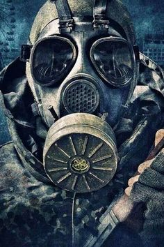 Young man in mask Gas Mask Art, Masks Art, Gas Masks, Post Apocalyptic Art, Apocalyptic Fashion, Tf2 Meme, Bauch Tattoos, Apocalypse Art, Dope Wallpapers