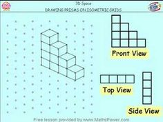 A Year 6 lesson from the Maths Power suite of 1000+ tutorials. Topic: 3D Space - Drawing Prisms on Isometric Grids