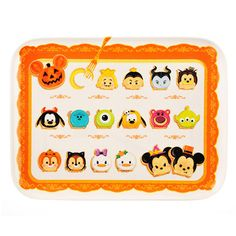 Disney Tsum Tsum Melamine Halloween Tray