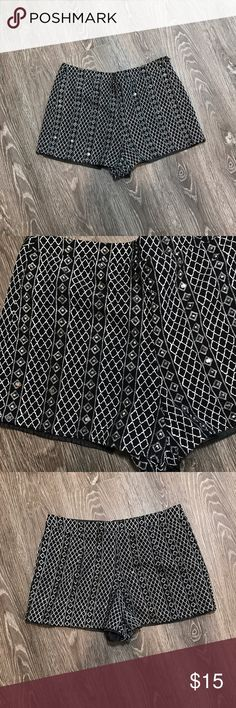 Forever 21 NWOT High Rise Sparkle Club Shorts In excellent condition. NWOT! Gorgeous mirrored embellishments throughout. Size S, true to size. Shorts are lined. 🖤THANK YOU for supporting the dream of business ownership of 2 BFFs! 🖤DON'T PASS THIS UP! Make us an offer! 🖤We ship daily M-Sat, so youll get it on time! 🖤no price discussion in comments please🖤 use offer button 🖤reasonable offers accepted 🖤low offers countered🖤offers below 50% of asking price are auto declined🖤 Forever 21…