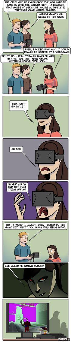 The Horror of the Oculus Rift Fun via reddit user phreezinc