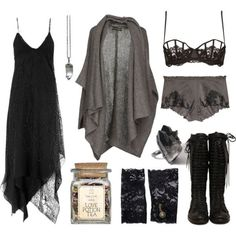 Love this. Very soft goth. Instead of leather and lace, its like cashmere and spikes. Lol