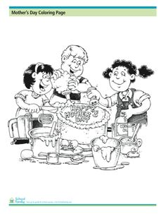 find this pin and more on mothers day crafts mothers day coloring page making a cake