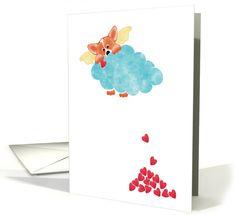 Corgi Doggie Heaven Sympathy card