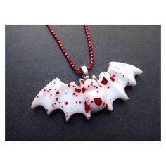 Creepy Cute Bloody Bat Necklace Bat Necklace Guro Lolita Goth ❤ liked on Polyvore featuring jewelry, necklaces, goth jewelry, silver jewellery, silver jewelry, gothic jewellery and gothic silver jewelry