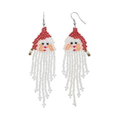 Seed Bead Jewelry, Seed Bead Earrings, Diy Earrings, Beaded Jewelry, Seed Beads, Jewellery, Jewelry Bracelets, Beaded Necklace, Hoop Earrings