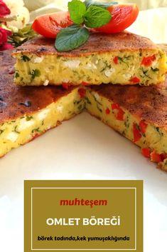 Muhteşem Omlet Böreği (10 Dakikada) Tarifi nasıl yapılır? 3.137 kişinin defterindeki bu tarifin resimli anlatımı ve deneyenlerin fotoğrafları burada. Yazar: Yeliz'in Tatlı Mutfağı Bread Recipes, Cake Recipes, Cooking Recipes, Healthy Recipes, Omelette, Frittata, Turkish Breakfast, Taco Pizza, Ramadan Recipes