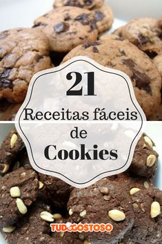 Cookies receita saudavel 21 ideas for 2019 Donut Cupcakes, Cupcake Cookies, Brownie Cookies, Chocolate Cookies, Cookie Recipes For Kids, Biscuits, Super Cookies, Best Cookies Ever, Drop Cookies