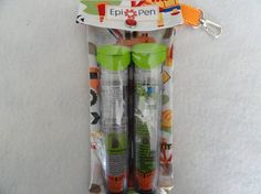Epi Pen Pouch 4x8 Holds 2 Allergy Pens w/ Clear Pocket and Clip $12.95  We have one and love it!