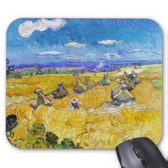 SOLD! - Wheat Fields with Reaper Van Gogh Vincent Mouse Pad