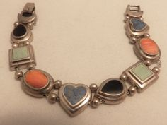 Vintage 925 Sterling Silver Multi Gemstone by TheJewelryCabinet, $42.50