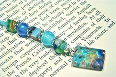 Glass Beaded Bookmark by shaunscrafts on Etsy, $14.00