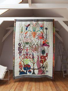 © Kustaa Saksi -amsterdam artist makes ornate tapestries inspired by nature