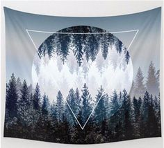 Eerie Boheme Full Moon Forest Tapestry This is so beautiful