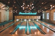 Pinewood Social is a communal gathering spot in Nashville and perfect party place to play. Have cocktails by the pool or turn your bridal bash into a bowling extravaganza. Nashville bridal shower.
