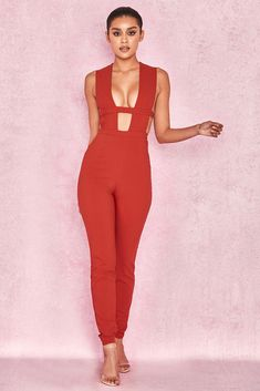 Ladies Cute Ship Shape Tailored Jumpsuit in Bright Red UK Size 10//12 by Avon