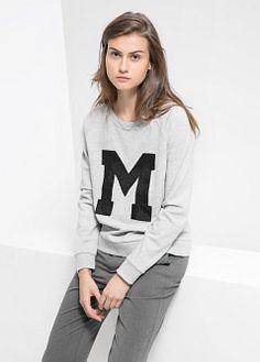 Gestreifter strickcardigan - Mäntel für Damen | MANGO