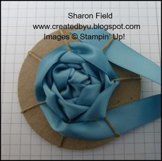 Ribbon Rose Tutorial! Making ribbon roses easy.