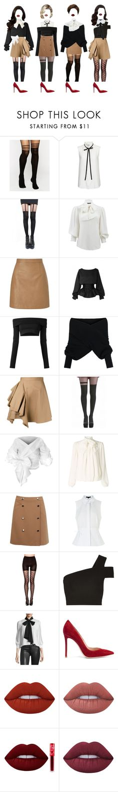 """""""- retro concept"""" by xxeucliffexx ❤ liked on Polyvore featuring ASOS, Frame, Pretty Polly, Alexander McQueen, Lipsy, Puma, WithChic, MSGM, Pamela Mann and Somerset by Alice Temperley"""