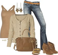 """""""Fall Neutral"""" by michelled2711 ❤ liked on Polyvore"""