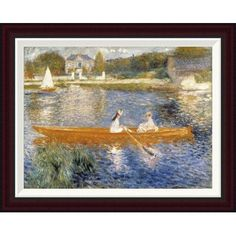 Global Gallery The Seine at Asnieres by Pierre-Auguste Renoir Framed Painting Print Size: