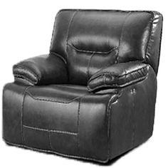 LYKE Home Power Leather Recliner Upholstery: Charcoal