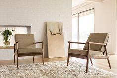 The Fahmida chair is a design collaboration between Thos. Moser and emerging Brooklyn-based designer Fahmida Lam